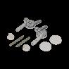Balamale metalice pentru capac WC