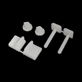Balamale din plastic pentru capac WC